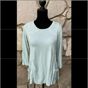 LOGO by Lori Goldstein Tunic Top Size S Green